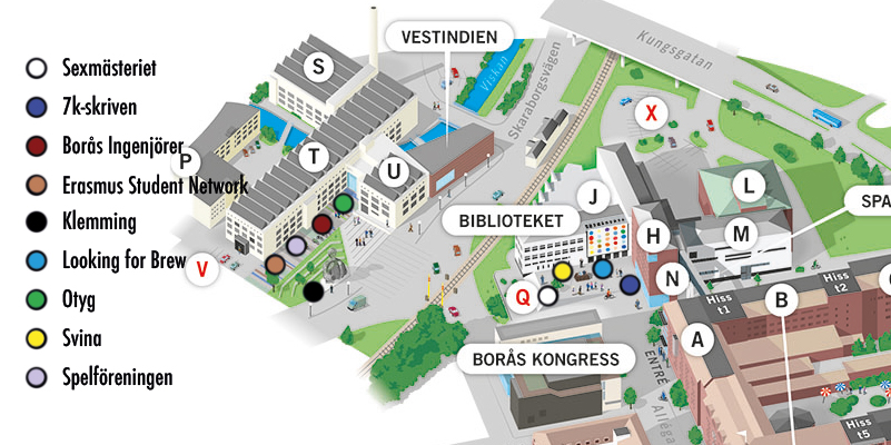 Map of where the associations will be located during the association group square
