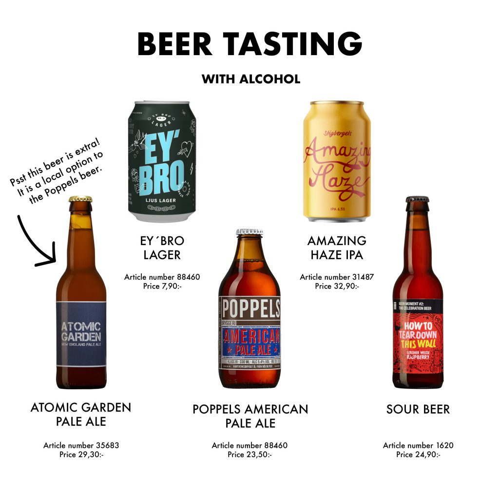 Picture of which beers will be tried